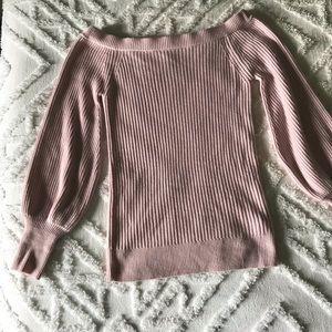 Light pink off shoulder sweater